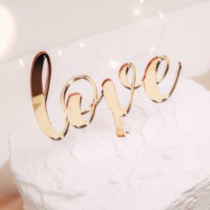 Caketopper; Frau Kopfkino; Tortenstecker; Love; Hochzeitsdekoration; Hochzeitstorte; Verlobung; Hochzeit; Liebe; Engagement; Cake topper; Topper; Torte; Tortendekoration; Spiegelaryl; Gold; Roségold; Silber