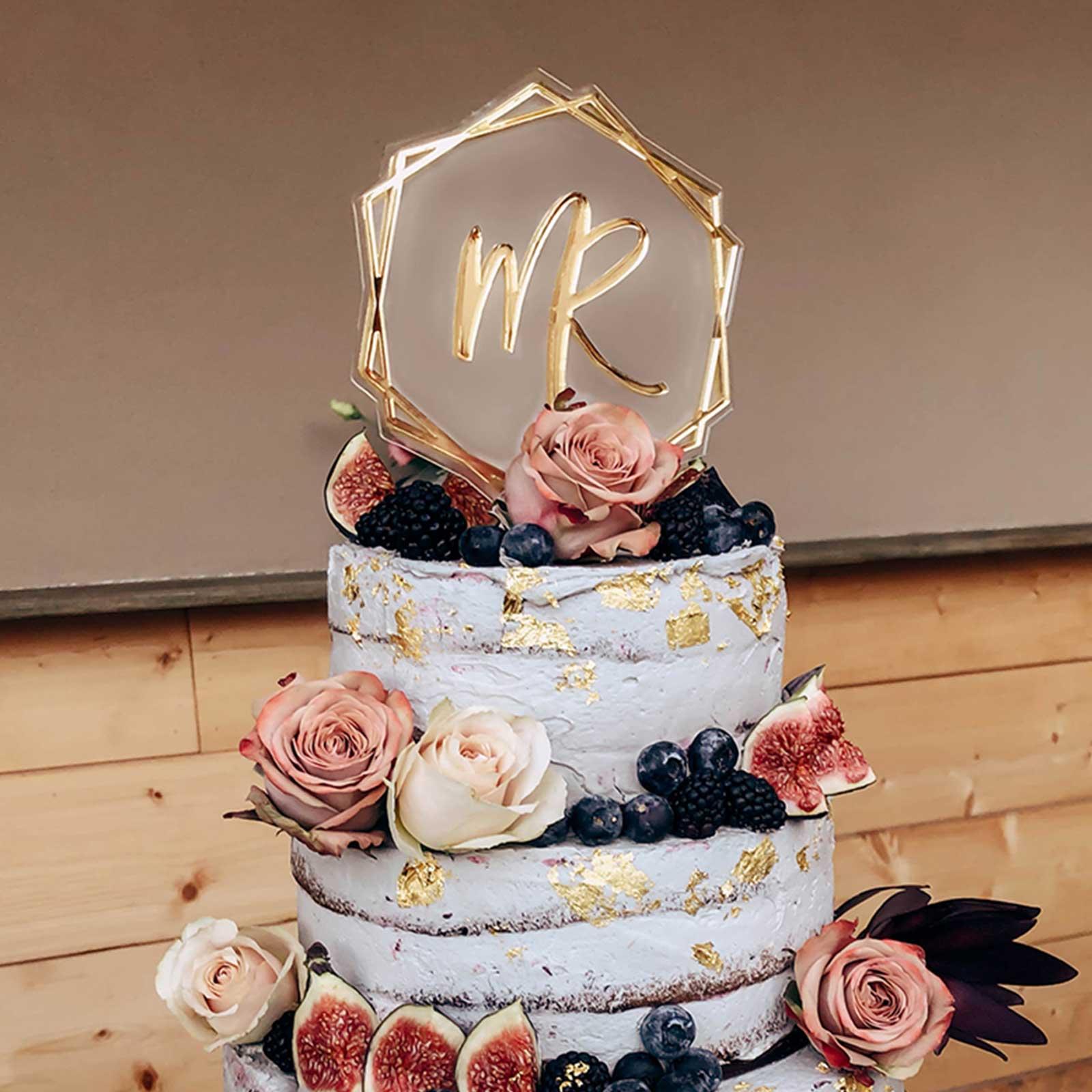 Caketopper; Frau Kopfkino; Tortenstecker; Love; Hochzeitsdekoration; Hochzeitstorte; Verlobung; Hochzeit; Liebe; Engagement; Cake topper; Topper; Torte; Tortendekoration; Spiegelaryl; Gold; Roségold; Silber; individueller Caketopper, Cake topper; Topper; Vorname; Name; Hexagon