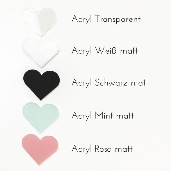 Acryl, Acrylmuster